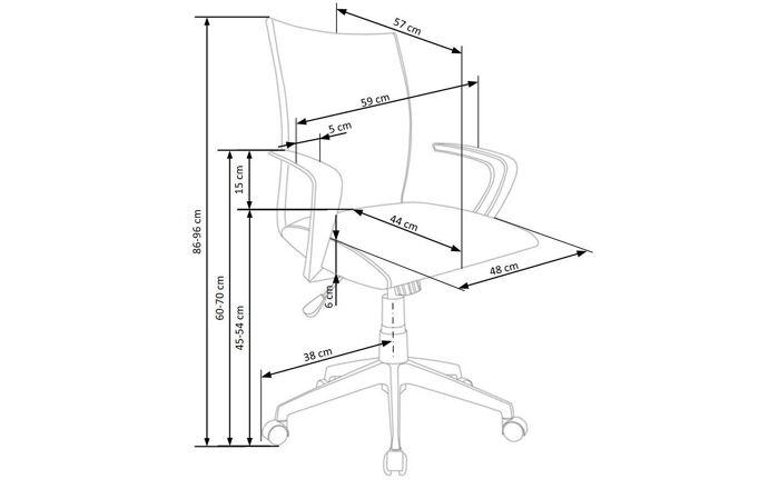 Biuro kėdė H1446